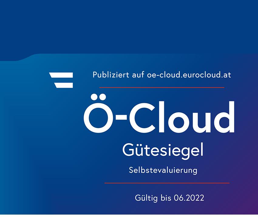 Ö-Cloud Gütesiegel für conova TopCloud